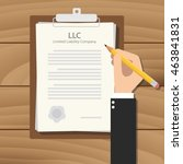 llc limited liability company... | Shutterstock .eps vector #463841831