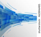 abstract dark blue rectangles...   Shutterstock .eps vector #463846481