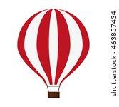 flat design red hot air balloon ... | Shutterstock .eps vector #463857434