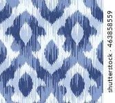 ikat pattern seamless... | Shutterstock .eps vector #463858559