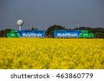Mobil Grain Locomotives Parked...