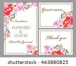 vintage delicate invitation... | Shutterstock . vector #463880825