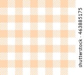yellow peach seamless gingham... | Shutterstock .eps vector #463885175