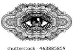 All Seeing Eye In Ornate...
