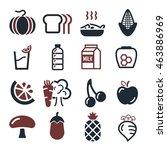 vegetables  fruit icon set | Shutterstock .eps vector #463886969