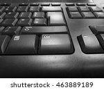 Dusty Old Black Keyboard With...