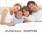 happy family reading a book ...   Shutterstock . vector #46389388