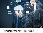 double exposure of professional ... | Shutterstock . vector #463900211