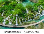 lakes of the plitvice lakes... | Shutterstock . vector #463900751