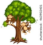 Two Monkeys On The Tree...