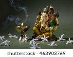 hindu god ganesha. ganesha idol.... | Shutterstock . vector #463903769