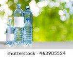 plastic water bottle on the... | Shutterstock . vector #463905524