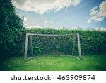 backyard soccer goal on a green ...   Shutterstock . vector #463909874