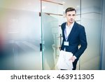 serious handsome business man... | Shutterstock . vector #463911305
