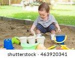 toddler in playground | Shutterstock . vector #463920341