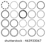 hand drawn ethnic brushes set.... | Shutterstock . vector #463933067