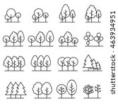 line trees  design set graphic... | Shutterstock .eps vector #463934951