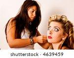 makeup artists refreshes model... | Shutterstock . vector #4639459