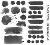 set watercolor ink blobs ... | Shutterstock . vector #463952471