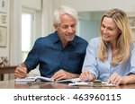 mature couple doing family... | Shutterstock . vector #463960115