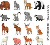 funny exotic animals | Shutterstock .eps vector #463965707
