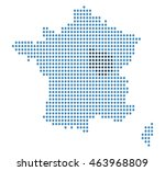 map of france | Shutterstock .eps vector #463968809