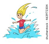 vector image of a girl jumping... | Shutterstock .eps vector #463972304