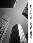 modern architecture black and... | Shutterstock . vector #463974095