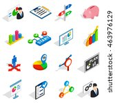 business plan icons in... | Shutterstock . vector #463976129