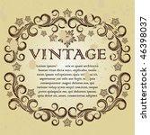 vintage frame. | Shutterstock .eps vector #46398037