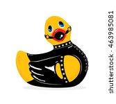 Stock vector bdsm duck vector illustration 463985081