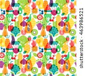 vector seamless pattern of... | Shutterstock .eps vector #463986521