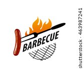 barbecue party logo   Shutterstock .eps vector #463987241