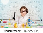 student girl doing research in... | Shutterstock . vector #463992344