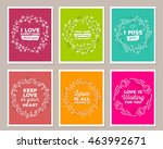 vector collection of... | Shutterstock .eps vector #463992671