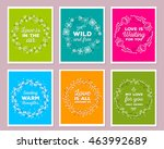 vector collection of colorful... | Shutterstock .eps vector #463992689