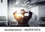 businessman relaxing in his... | Shutterstock . vector #463997651