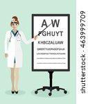 woman doctor character ... | Shutterstock .eps vector #463999709