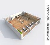 3d interior rendering... | Shutterstock . vector #464005277
