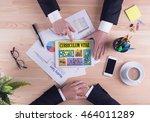 business team concept... | Shutterstock . vector #464011289