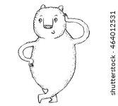 relaxed cute bear   Shutterstock .eps vector #464012531