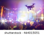 drone silhouette flying above... | Shutterstock . vector #464015051