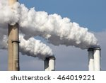 smoke emission from factory... | Shutterstock . vector #464019221