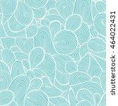 blue wave seamless vector... | Shutterstock .eps vector #464022431