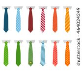 set different ties isolated on... | Shutterstock .eps vector #464024249
