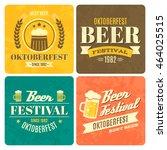 festival oktoberfest retro... | Shutterstock .eps vector #464025515