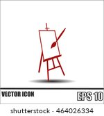 easel vector icon | Shutterstock .eps vector #464026334