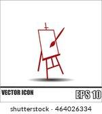 easel vector icon | Shutterstock .eps vector #464026334