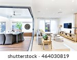 modern living room attached to... | Shutterstock . vector #464030819