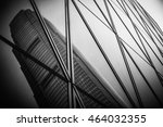 modern architecture black and... | Shutterstock . vector #464032355
